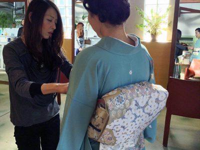 入学式のママヘアー&着付。