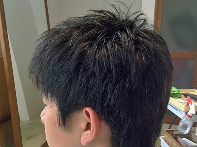 もっさりした男子髪もすっきり男子髪に!