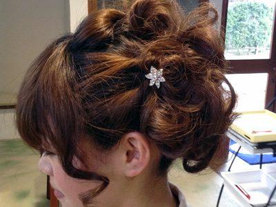 結婚式のゲストでのヘアアレンジ。