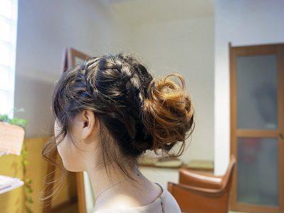 結婚式のお呼ばれアレンジヘアー。