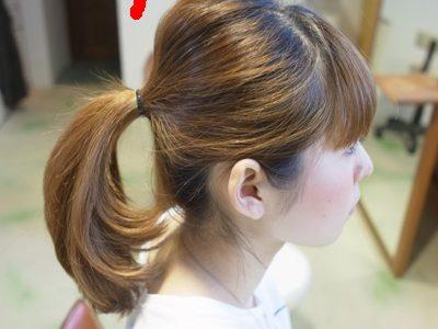 髪を結ぶ時にちょっとの工夫で、見違える様にカワイクなる方法!