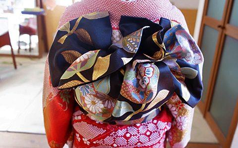 友人の結婚式で振袖に似合うヘアセット。