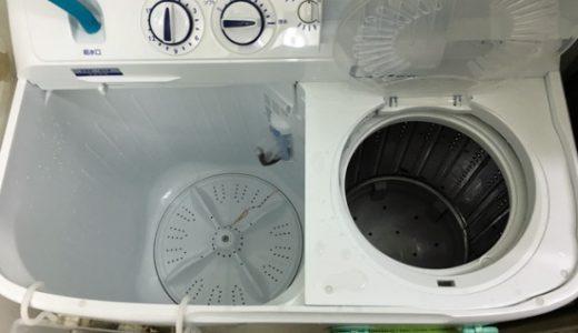 新しい洗濯機がやって来た、ヤーヤーヤー。今度も二層式だよ。