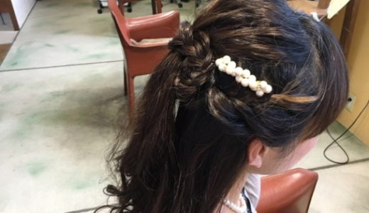 結婚式のゲストヘアーにハーフアップはいかがですか?