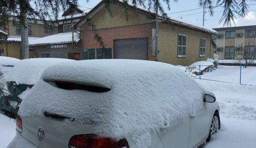 雪ですねー。こんな雪でもいつものスタバから。