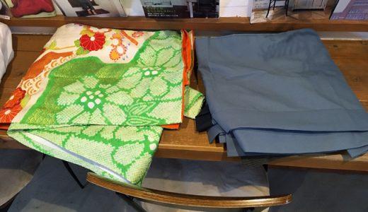 着付の練習用に使う、振袖と羽織袴を古着屋さんでゲット!