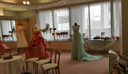 ウェディングドレスの着せ方を習いにブライダルサロンにお邪魔して来ました。