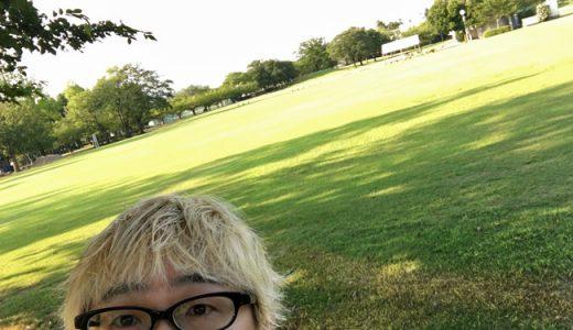早朝の粟津公園が最近のお気に入り。気持ちいいです。