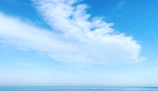 まるで沖縄に来てるよう!今朝の安宅の海ですけど