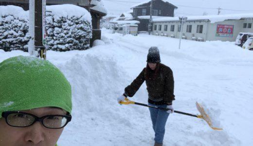 今朝も除雪からスタート。今日はこの辺で勘弁しといてやるわ笑