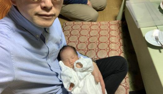 初孫ちゃんとご対面。どれだけでも見ていられますね。